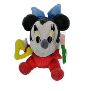 Vintage 80s Applause Baby Minnie Mouse Plush Toy